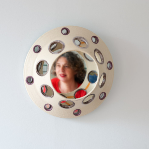 'Connections', Yvette Lardinois, spiegel, mirror, ceramic, 2014