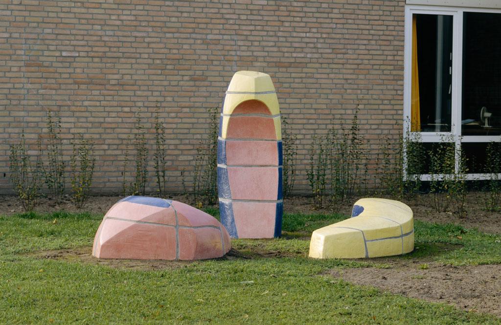 Berglarenschool, Gemert, 1995, ceramic, Yvette Lardinois