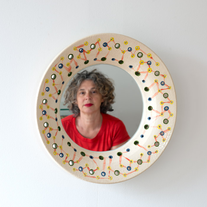 Connections, Yvette Lardinois, Mirror, spiegel, ceramic