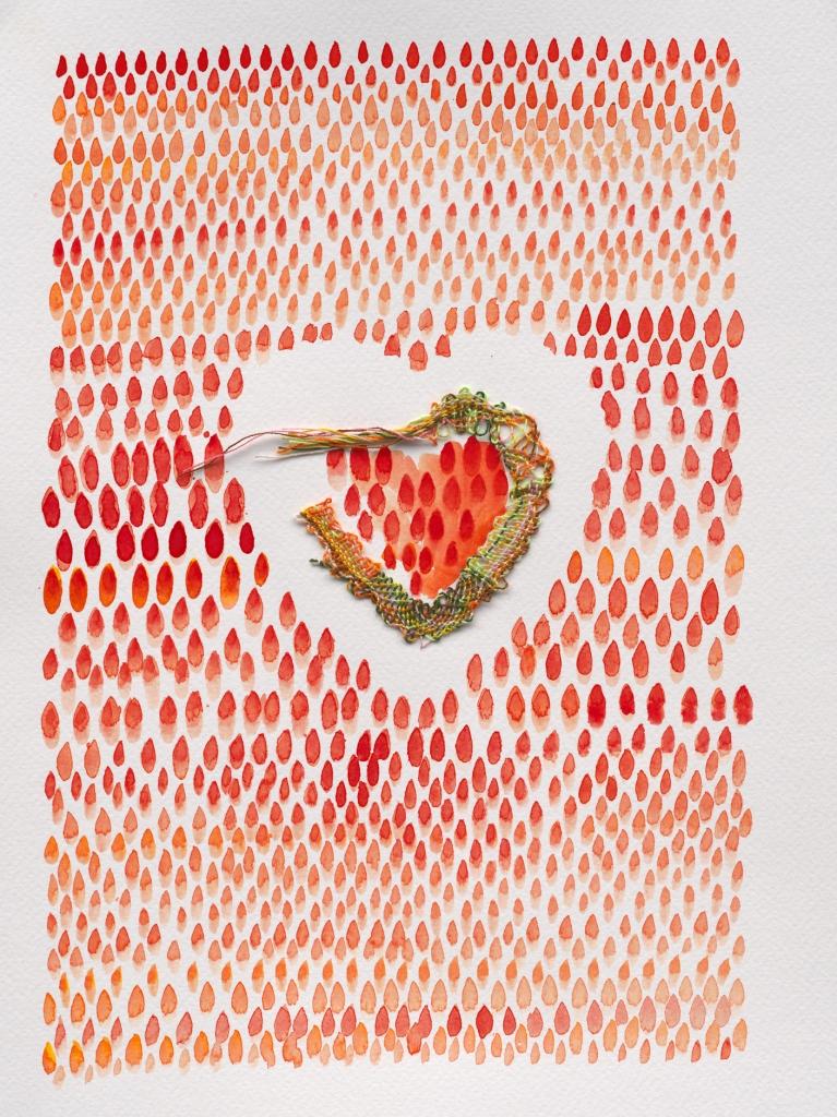 Gebroken hart, mixed media, Yvette Lardinois
