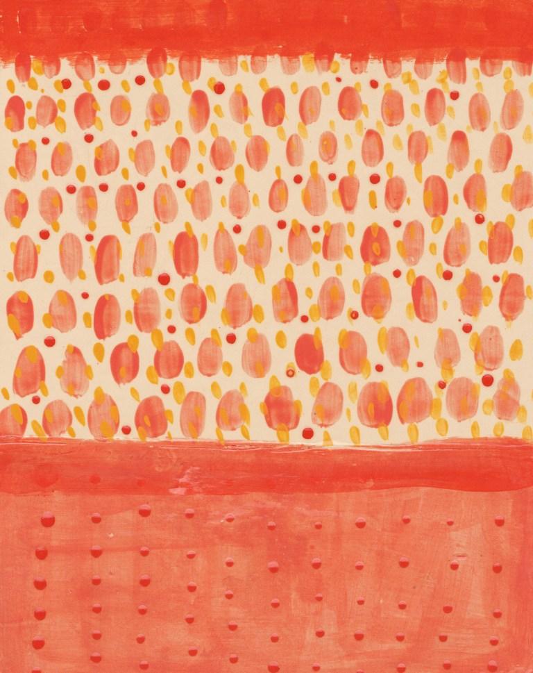 Tears, Orange, Ceramic, Yvette Lardinois