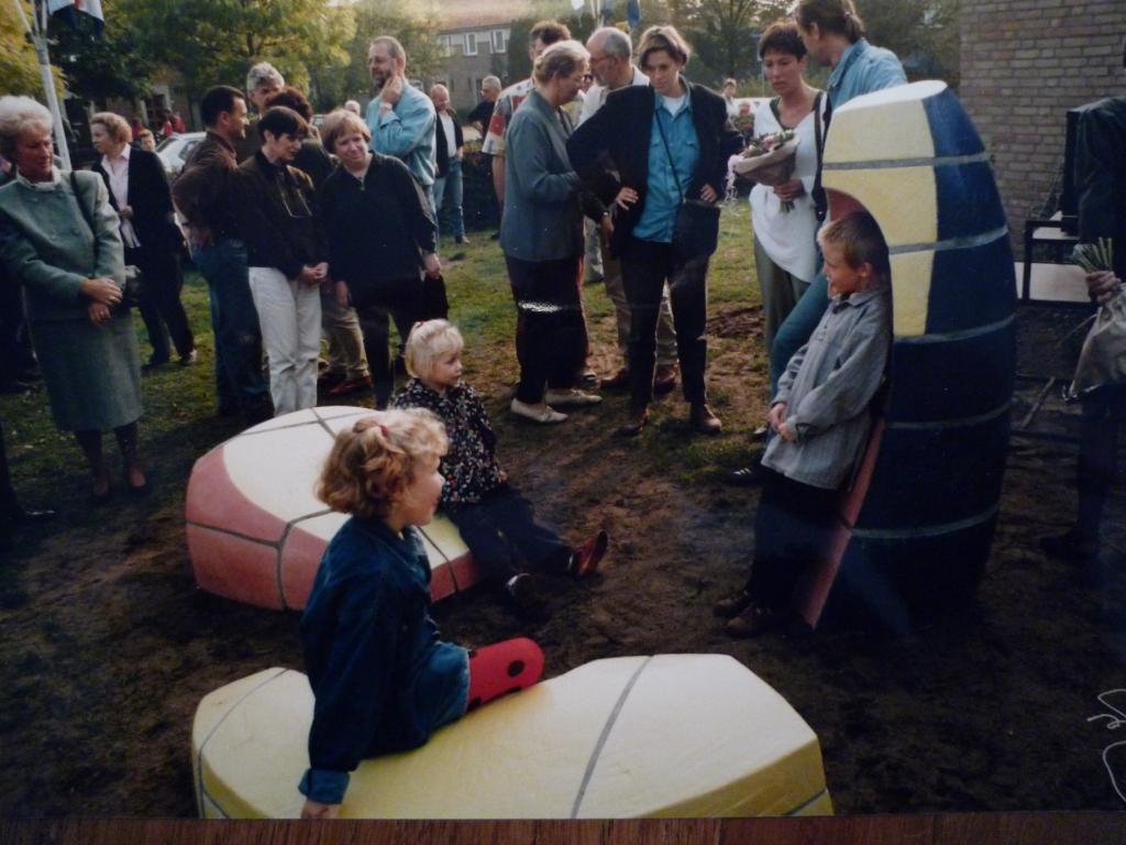 onthulling kunstobject Berglaren school Gemert, Yvette Lardinois