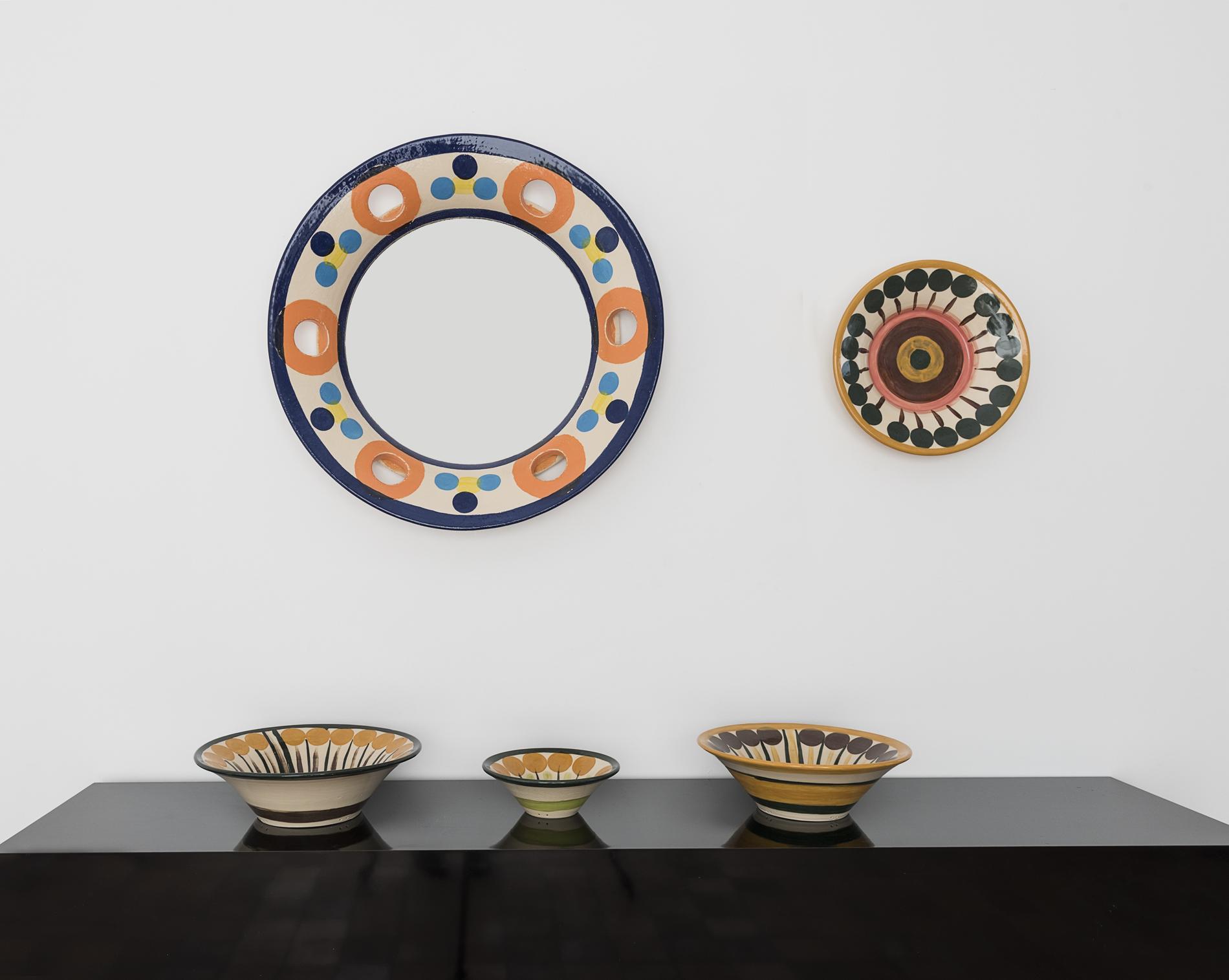 Yvette Lardinois, spiegel, schalen, 2018