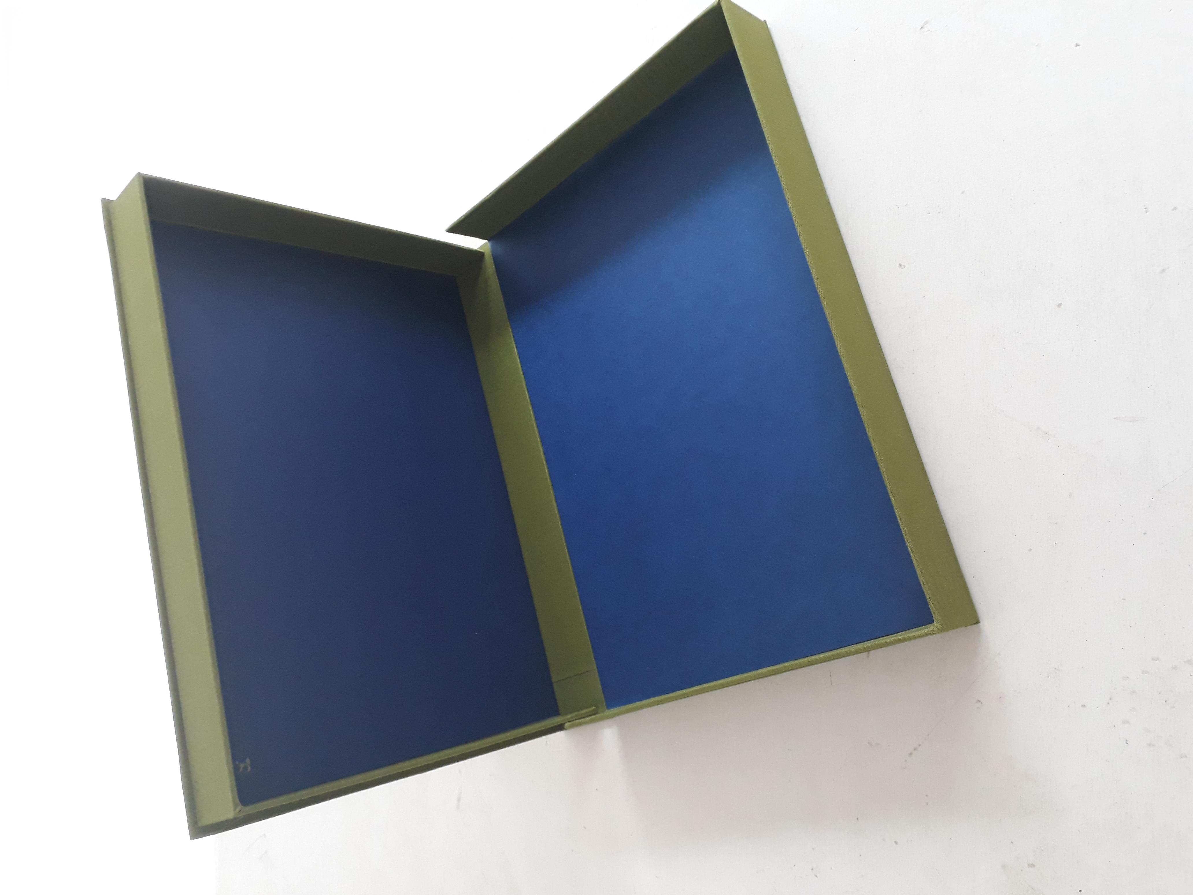 Doos groen blauw, Yvette Lardinois